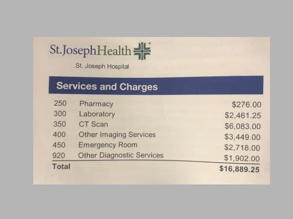Auslandskrankenversicherung Krankenhauskosten USA Rechnung