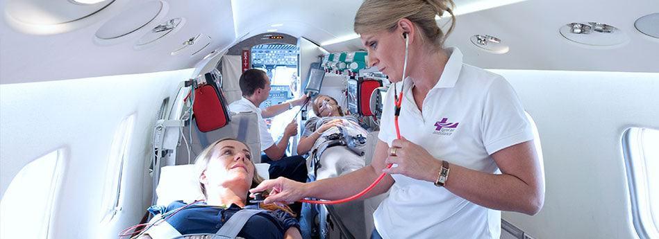 Auslandskrankenversicherung Rücktransport Ambulanzjet