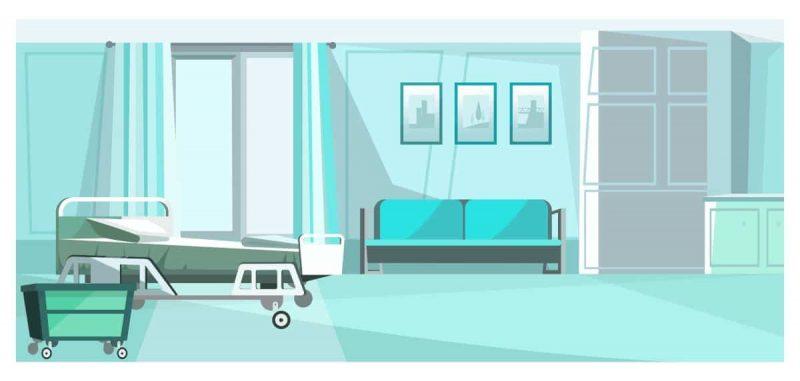private Krankenversicherung Krankenhausbett und Einbettzimmer